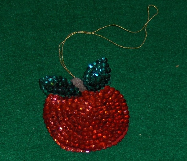 apple Christmas ornament