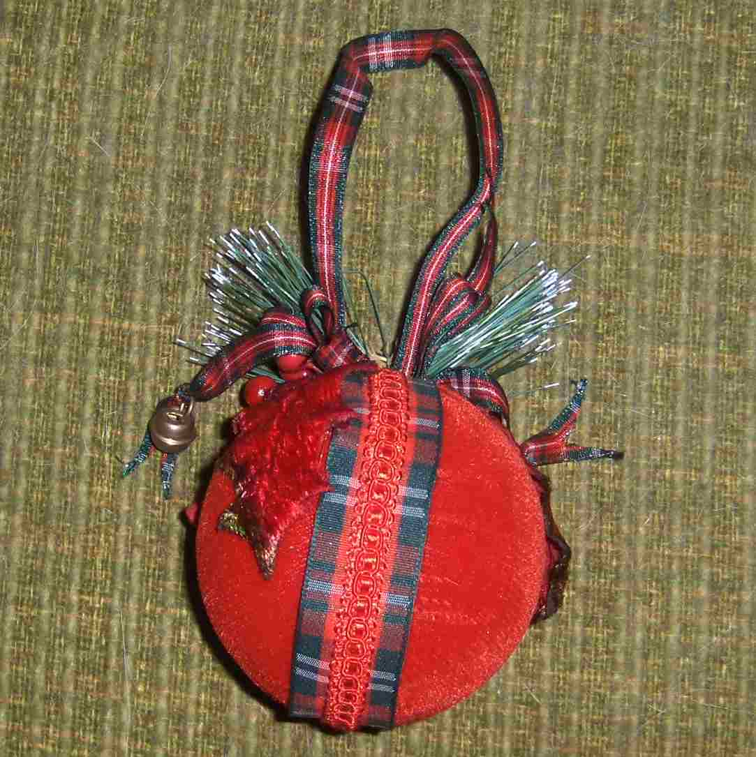 velvet Christmas ornament