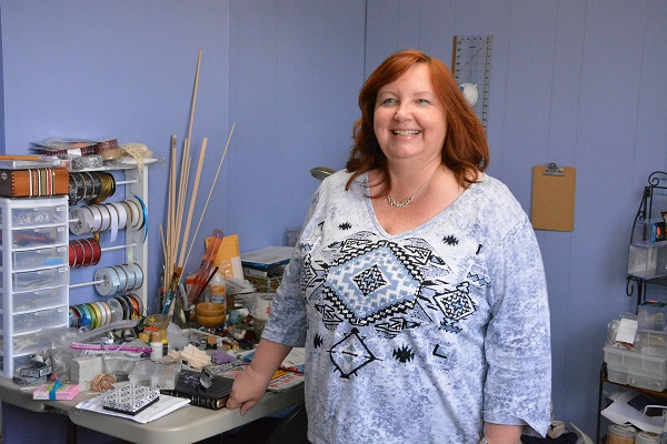 Barbara Lieberman in her workroom