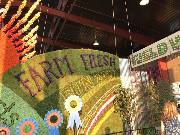 "OC Fair ""Farm Fresh Fun"" sign"