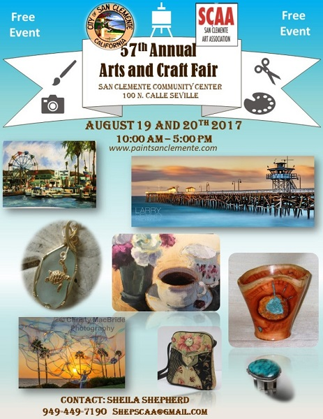 SCAA Arts and Craft Fair flyer